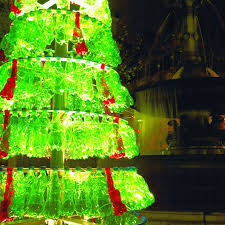 Christmas Decorations Made Out Of Plastic Bottles Plastic Bottle Christmas Tree Celebrating Green Christmas Green 62