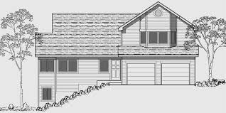 house front color elevation view for 9942 side sloping lot house plans 4 bedroom house