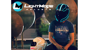 lightmode electroluminescent motorcycle helmets by thomas transform your plain old motorcycle helmet into a fully functioning head turning illuminating