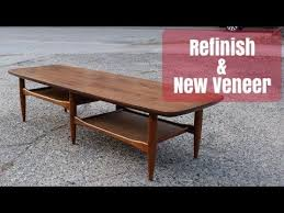 mid century furniture refinish replace laminate top with walnut veneer you