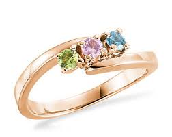 infinity mothers ring. 10k or 14k white gold, rose gold yellow birthstone ring - select 3 infinity mothers