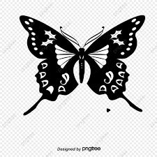 蝶のシルエット素材 ベクトル 蝶 昆虫画像素材の無料ダウンロードのため
