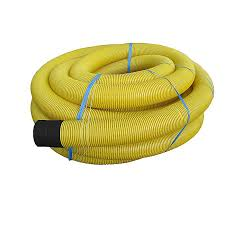 yellow single wall perforated field drainage pipe 80mm x 25 m