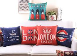 vintage london print cushions queen s guard keep calm carry on