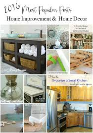 2016 most popular posts DIY tutorials in home decor and home improvement.  Creative DIY projects