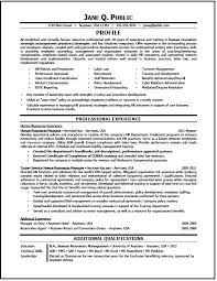 Hr Resume Simple Human Resources Generalist Resume Sample Canreklonecco