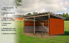 Horse Shed Designs Research On Summer Weather And Horse Shelter Preferences