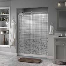 delta simplicity 60 in x 71 in semi frameless contemporary sliding shower door