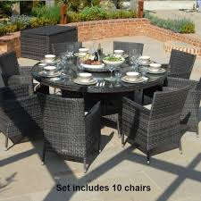 maze rattan baby la 10 seat rattan dining set 1 8m round table