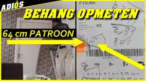 Patroon Behang Opmeten Behangen Met Een Patroon Van 64 Cm