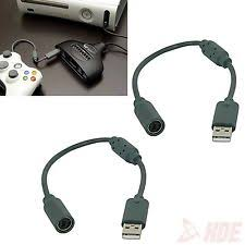 xbox 360 controller cord 2x wired controller usb breakaway cables cord for microsoft xbox 360 guitar hero
