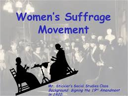 women s suffrage movement ppt women s suffrage movement