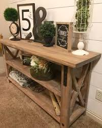 restoration hardware dining table look alike. industrial farmhouse x-style entry table - local only / rustic restoration hardware dining look alike