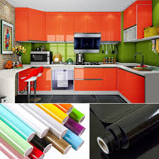 Image Modular Kitchens Onshopdealscom 3m5m10m Paint Waterproof Decorative Film Self Adhesive Wallpaper Roll For Kitchen Furniture Sticker Home Decoration Accessorie