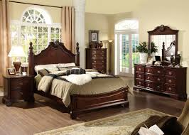 dark cherry wood bedroom furniture sets. 5 Pc Carlsbad Formal And Stylish Dark Cherry Finish Wood Queen Bedroom Set  With Ornamental Headboard Footboard Furniture Sets U
