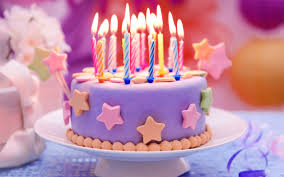 Wallpaper Happy Birthday Cake Candles Stars 2560x1600 Hd Picture