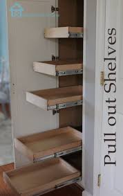 Diy Kitchen Pantry Cabinet Kitchen Organization Pull Out Shelves In Pantry Closet Pantry