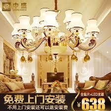 european zinc alloy crystal chandelier lamp simple european luxury living room lamp bedroom lamp restaurant lights minimalist floor villa