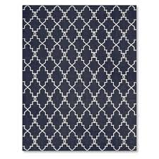 moroccan gate indoor outdoor rug 6x9 navy