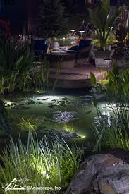 Pond lighting ideas Water Feature Backyard Pond Lighting Aquascape Inc Pretty Backyard Lighting Ideas For Your Pond Waterfall Or Fountain