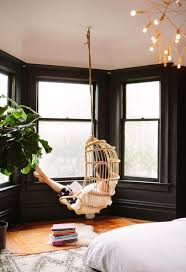 Swinging Chair For Bedroom Incredible Teenage Girl Bedroom Decor With Rattan Chair Swings And