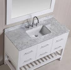 48 london single sink vanity set in white finish