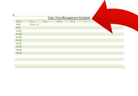 Make A Time Schedule How To Make A Time Management Schedule With Microsoft Word