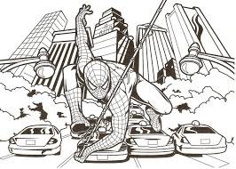 Small Picture Spiderman Coloring Page With Es Coloring Pages