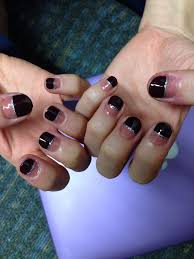 Girly Nail Designs For Short Nails Deep French Nails With Silver Lines Nail Art For Short