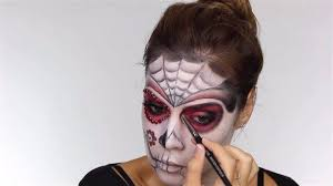 work on the eyes easy day of the dead makeup tutorial perfect for