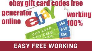 ebay gift codes free ebay ebay free gift card 2018