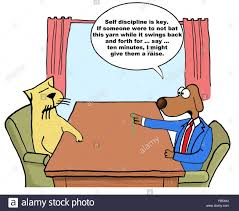 business cartoon about performance review the boss dog torments business cartoon about performance review the boss dog torments worker cat for the cat to get his raise