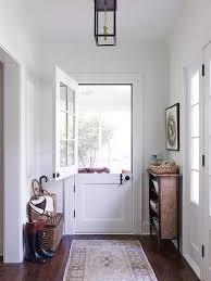 glass dutch door to backyard