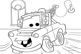 Cars Coloring Pages For Kids Cars Car In The Garage Coloring Cars