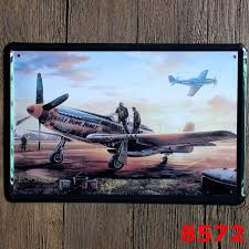 wwii vintage home decor tin sign wall decor metal sign vintage art poster retro plaque  on airplane wall art metal with wwii vintage home decor tin sign wall decor metal sign vintage art