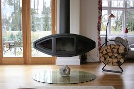 Suspended fire hanging stove