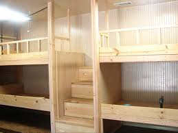 DIY bunk beds. I like the stairs instead of a ladder since the little one