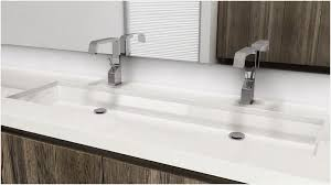 trough bathroom sink with two faucets complete undermount unique vc848u 48