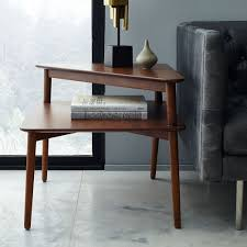 mid century stepped side table modern