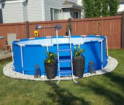Backyard Pool Landscaping Above Ground Pool Photo Gallery Photo Gallery Backyard Oasis
