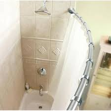 curved double shower rods curved double shower