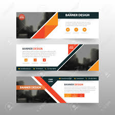 Business Banner Design Orange Black Triangle Abstract Corporate Business Banner Template