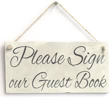 Sign Book For Wedding Meijiafei Please Sign Our Guest Book Wedding Party Decor Accessory Gift Sign Plaque Guest Book Decor 10x5 Best Unusual Gifts Best Weird Gifts From