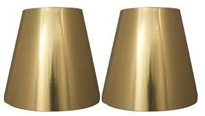 metallic hardback 5 inch chandelier lamp shade 3 colors diy urbanest by 4 clip on