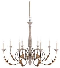 pauline large french country 8 light curled iron arm chandelier
