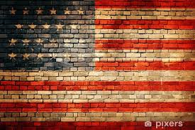 american flag on old brick wall texture or background vinyl wall mural backgrounds