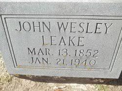John Wesley Holland Leake (1852-1940) - Find A Grave Memorial
