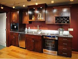 wet bar lighting. Wet Bar With Wooden Cabinets And Track Lighting