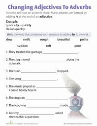 ly Adverbs | Worksheet | Education.com
