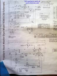 wiring diagrams and schematics appliantology frigidaire stack washer dryer model fex831cs0 schematic